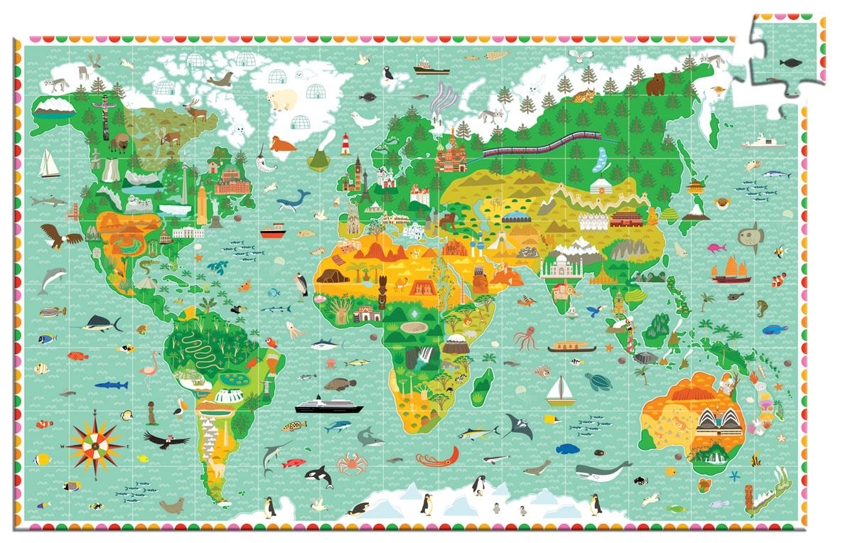 Djeco Пазл для малышей Мировые памятники07412Пазл Мировые памятники + буклет. Игра научит Вашего ребёнка логически размышлять. Также малыш познакомится с интересными памятниками, узнает много нового о мире природы. Эта игра поможет сплотить всю семью в часы досуга, а дети узнают прекрасное множество цветовой гаммы, и расширят свой кругозор. Возрастных пределов в данной игре нет. Это многокадровая развивающая картинка – пазл. Картинки отличаются уровнем сложности. Пазл развивает моторику пальчиков рук, воображение.