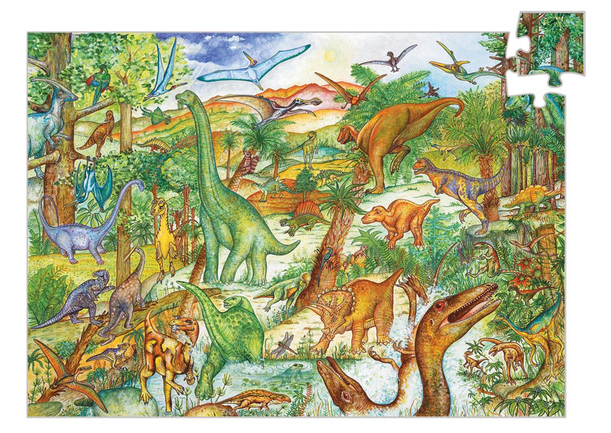 Djeco Пазл для малышей Динозавры07424Пазл на наблюдательность Динозавры, 100 деталей + буклет. Игра научит Вашего ребёнка логически размышлять. Также малыш познакомится с чудесным миром древних драконов, узнает много нового о мире природы. Эта игра поможет сплотить всю семью в часы досуга, а дети узнают прекрасное множество цветовой гаммы, и расширят свой кругозор. Возрастных пределов в данной игре нет. Это многокадровая развивающая картинка – пазл. Картинки отличаются уровнем сложности. Пазл развивает моторику пальчиков рук, воображение.