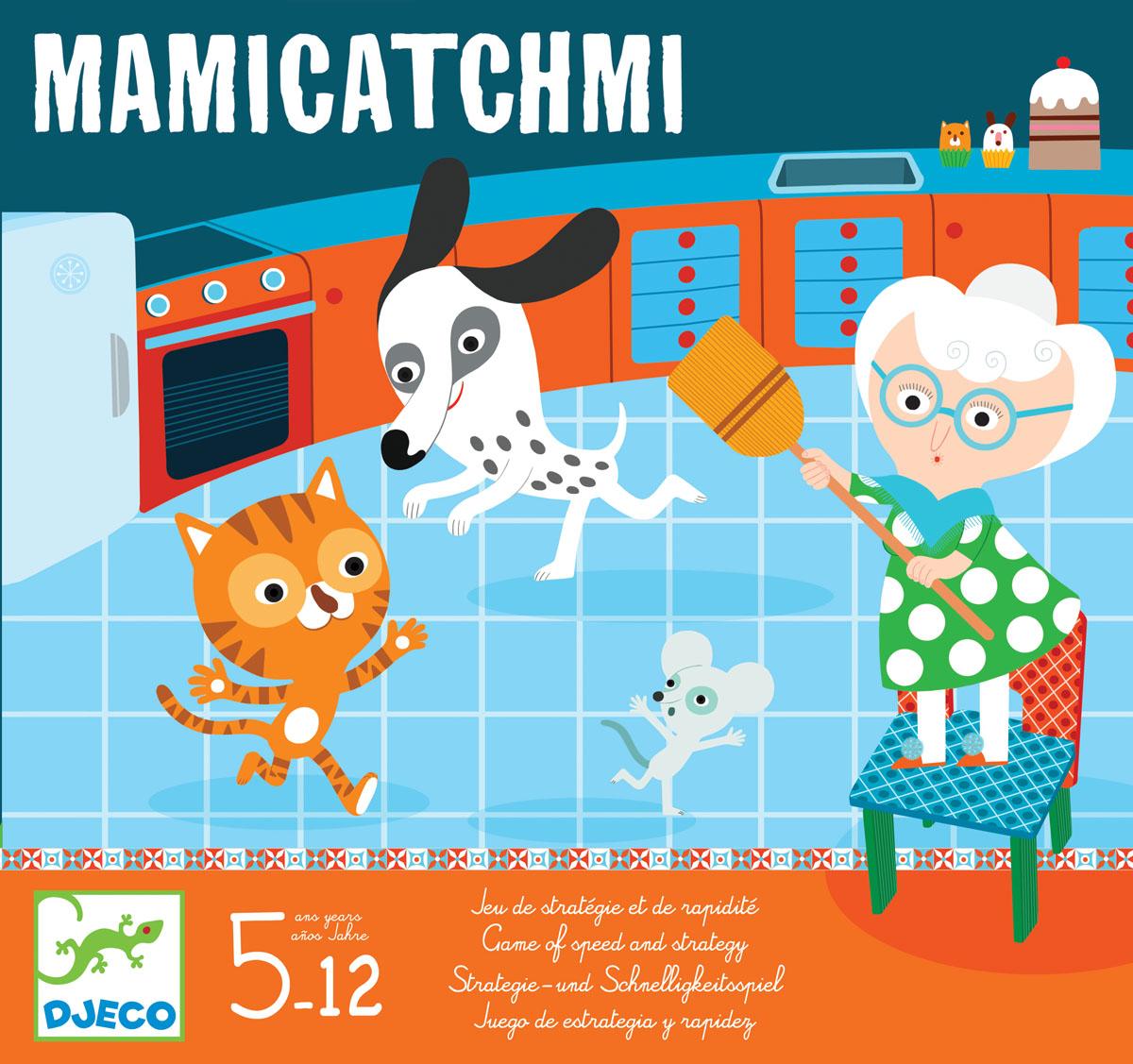 Djeco Настольная игра Поймай!08438Настольная игра Поймай! от известного французского производителя Djeco – веселая игра на наблюдательность и скорость для детей возрастом от 5 лет! Игра развивает быстроту реакции детей, внимание и наблюдательность. Погоня началась! Действие происходит на кухне и в саду: если мышка покажет кончик носа, бабушка бежит и запрыгивает на свой стул. А когда собака преследует кошку, та забирается на дерево. Каждый раз, когда игроки бросают кубики, герои должны устремиться в правильное место. Количество игроков: 2-4 человек. Примерное время игры: 15 минут.