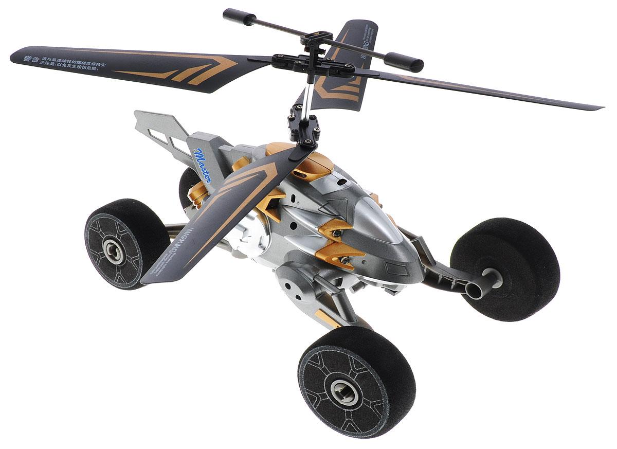 Auldey Вертолет на инфракрасном управлении Master цвет серыйYW857302Вертолет на инфракрасном управлении Auldey Master отлично подходит для полетов в закрытых помещениях и на улице в безветренную погоду. Игрушка выполнена из прочного пластика с металлическими элементами и имеет два основных винта. Вертолет стабилен в воздухе и легко управляется. Функции движения: подъем-спуск, поворот налево-поворот направо, движение вперед, остановка. Высота полета - 10 метров. Радиус действия пульта управления - около 10 метров. Время полета - около 6 минут. Помимо полетов имеется режим езды. Эта увлекательная игрушка понравится не только детям, но и взрослым, и подарит вам множество счастливых мгновений. Вертолет работает от встроенного аккумулятора, который можно заряжать от USB-кабеля (входит в комплект). Для работы пульта управления необходимо купить 6 батареек типа АА (в комплект не входят).