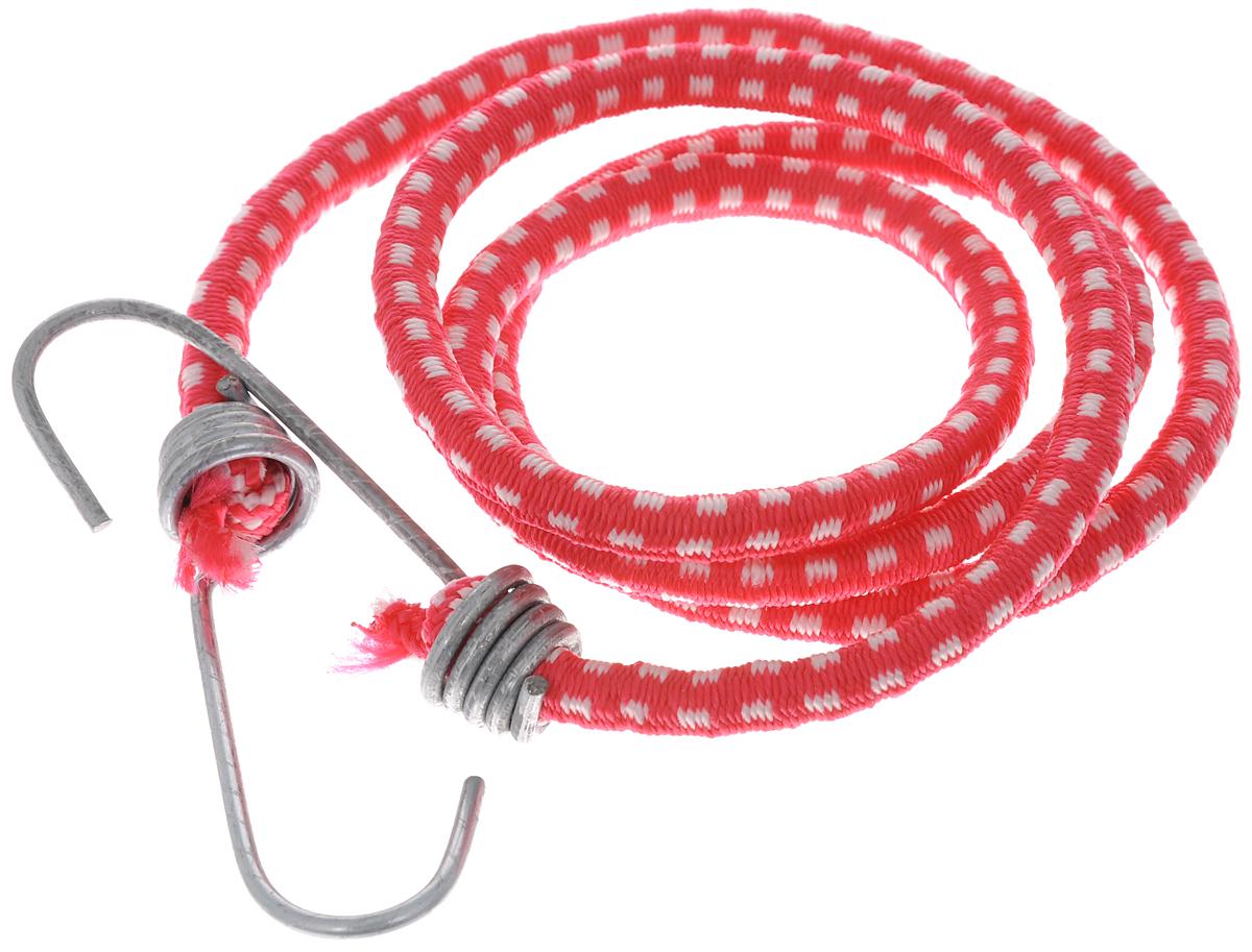 Резинка багажная МастерПроф, с крючками, цвет: красный, белый, 0,6 х 110 см. АС.020052АС.020052_ красный, белыйБагажная резинка МастерПроф, выполненная из натурального каучука, оснащена специальными металлическими крюками, которые обеспечивают прочное крепление и не допускают смещения груза во время его перевозки. Изделие применяется для закрепления предметов к багажнику. Такая резинка позволит зафиксировать как небольшой груз, так и довольно габаритный. Температура использования: -50°C до +50°C. Безопасное удлинение: 125%. Диаметр резинки: 0,6 см. Длина резинки: 110 см.