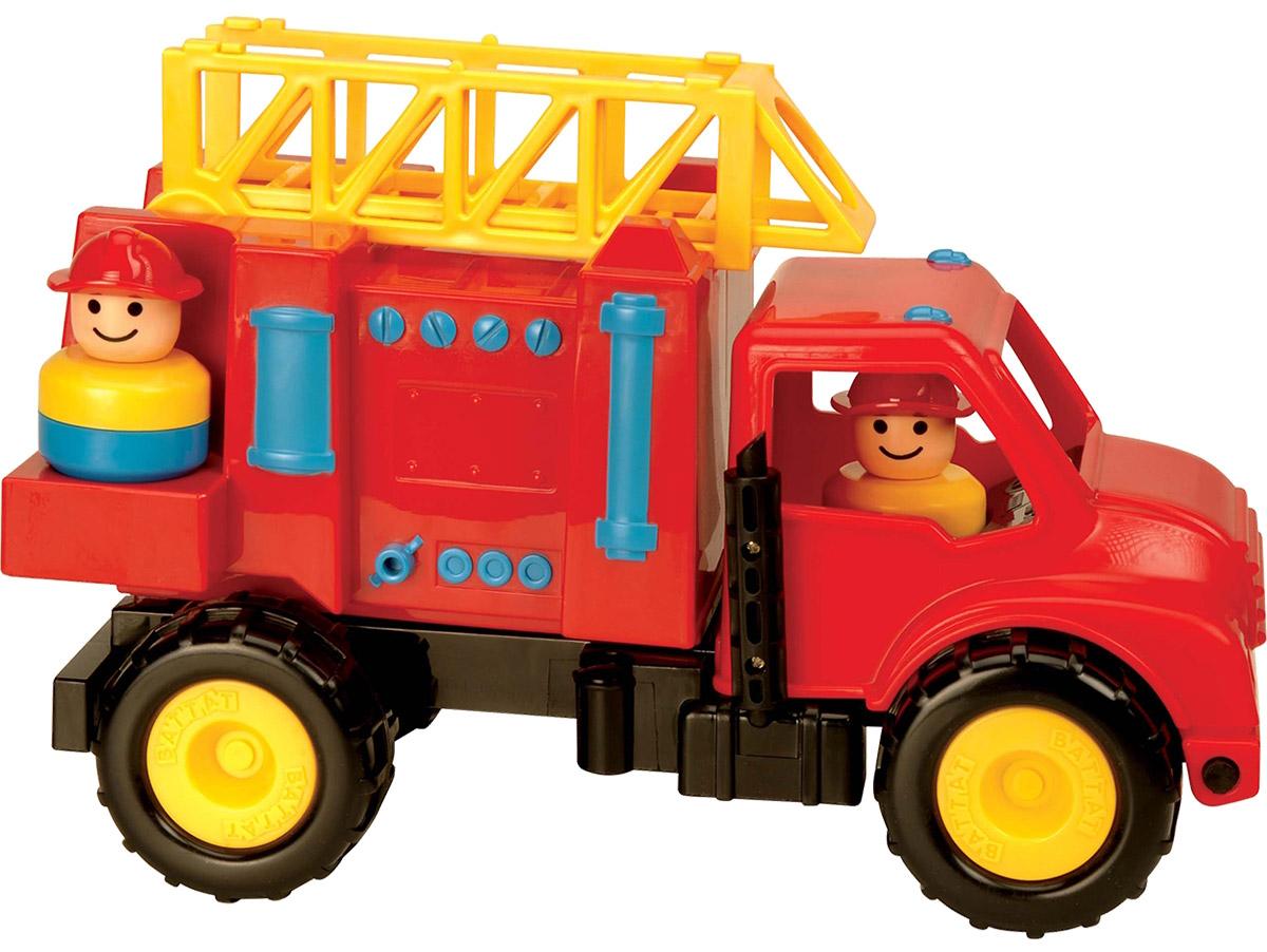 Battat Пожарная машина68019Игрушки Battat популярны во всем мире и выпускаются уже на протяжении 100 лет. Это уникальные игрушки, свыполненные из инновационных материалов, представляющих собой что-то среднее между латексом и пластиком. Игрушки Battat имеют неповторимый дизайн, максимально безопасны и надежны и, что не менее важно, обладают высоким развивающим потенциалом. Состав игрушки: Пожарная машина и 2 пожарника. Выдвижная лестница, крутится. Кабина откидывается.