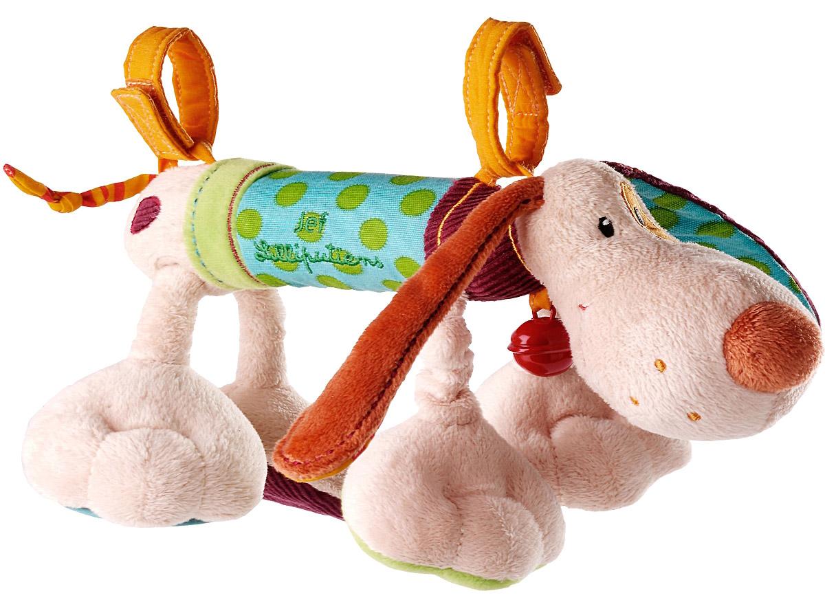 Lilliputiens Развивающая игрушка Собачка Джеф 8600286002Развивающая игрушка Lilliputiens Собачка Джеф - это не просто погремушка. В ней прячется много интересного: зеркальце, различные текстуры и ткани, с помощью которых малыш будет развивать тактильные ощущения. Она предана своему маленькому хозяину и следует за ним всюду. Ее можно прикрепить к автокреслу, манежу, кроватке и коляске. Все игрушки Lilliputiens разрабатываются в Бельгии, отличаются безупречным качеством и безграничной креативностью. Каждая игрушка - это путешествие в новую вселенную, полное неожиданных открытий и приятных сюрпризов.