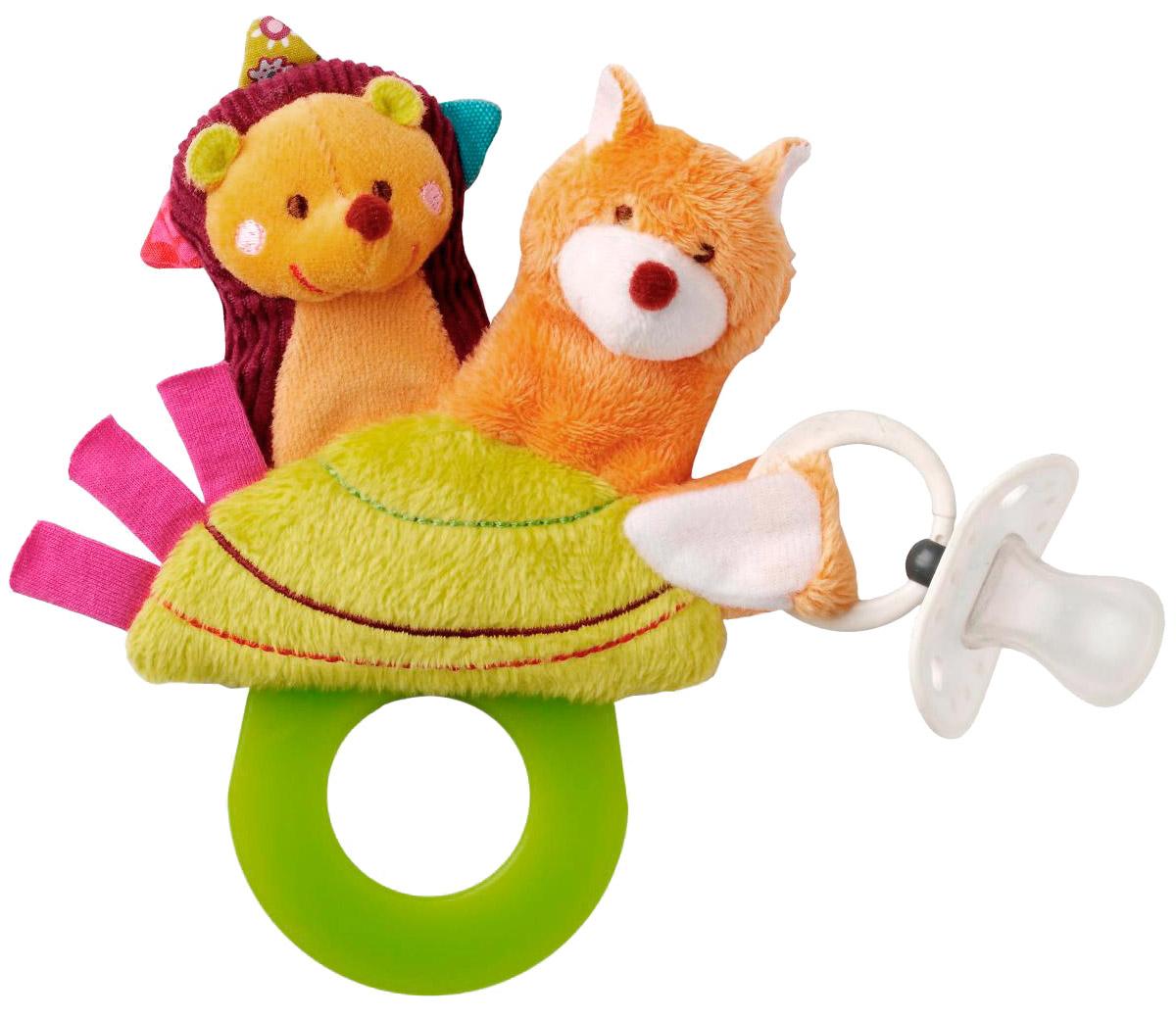 Lilliputiens Погремушка-прорезыватель Ежик Симон86248Ежик Симон и лисенок Виктор - это две милые пальчиковые игрушки. К хвосту лисенка можно легко прикрепить соску.