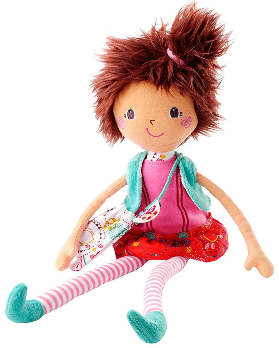 Lilliputiens Мягкая кукла Мона86527А вот и твоя новая подружка, мягкая кукла Lilliputiens Мона! Ее рыжие волосы, длинные полосатые ноги и милое личико делают ее очень стильной! У куклы милые вышитые глазки и озорная улыбка. В чем она выглядит лучше: в платье или в юбке? Выбери ей одежду и наряди ее, чтобы она сопровождала тебя во время всех твоих приключений, и не забудь ее сумочку! Разнофактурные материалы игрушки поддерживают развитие сенсорной моторики ребенка. Мягкая кукла Lilliputiens будет прекрасным подарком для самых маленьких девочек.