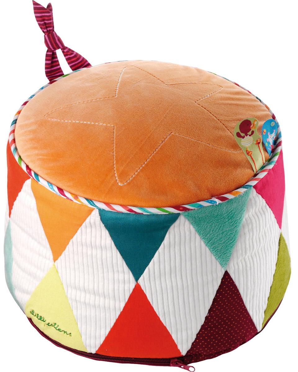Lilliputiens Мягкая игрушка Цирк86537С яркими цветами и фрагментами флагов в твою комнату приходит цирк в форме красивого пуфика, который похож на небольшую сцену! Он очень практичен благодаря своей съемной крышке.