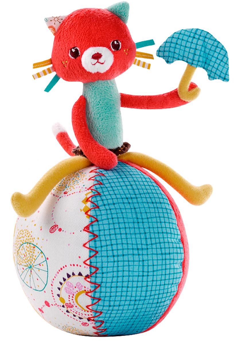 Lilliputiens Неваляшка Кошечка Коллет86560Неваляшка Lilliputiens Кошечка Коллет с первого взгляда очарует любого малыша. Она изящная и ловкая, и кроме того, настоящая кокетка. Коллет любит сидеть на большом цветном шаре, удерживая равновесие со свойственной ей легкостью. В лапках у нее миниатюрный зонтик. Она никогда не падает и всегда возвращается в свое любимое положение. Играя с Коллет, малыш услышит волшебные звуки колокольчика, спрятанного внутри шара. Игрушка выполнена из качественных гипоаллергенных материалов. Она мягкая, легкая и хорошо подходит даже для самых маленьких детишек. Игрушка развивает координацию, мелкую моторику, цветовое и звуковое восприятие ребенка.