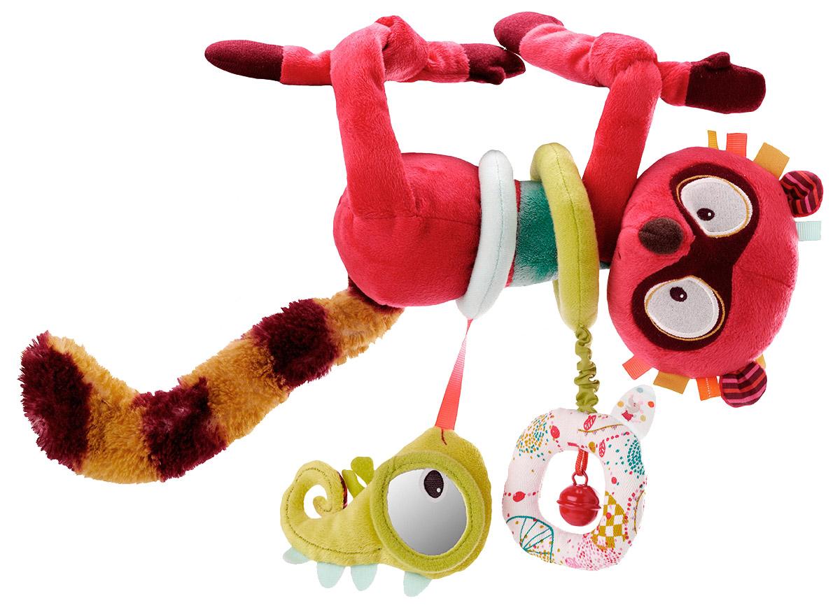 Lilliputiens Развивающая игрушка Лемур Джордж86576Музыкальная игрушка Лемур Джордж стимулирует психомоторное развитие ребенка, побуждает его изучать окружающий мир, развивает интеллект и мелкую моторику. Если вы потяните зверька за ногу, зазвучит приятная, спокойная мелодия. Яркий Лемур оснащен специальными кольцами, которые обязательно заинтересуют и понравятся малышу.