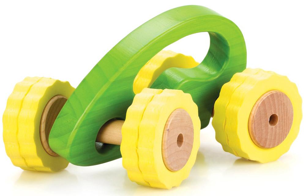 Lucy&Leo Машинка Роли-Поли цвет желтый зеленыйLL105Гонки с препятствиями - что может быть интереснее для активного малыша! С игрушечными машинками из серии Roly-Polly ваш ребенок сможет исследовать окружающий мир в увлекательной игре. Машинка имеет отличное сцепление с любой поверхностью, удобную ручку для малыша и специальную конструкцию для любых поворотов.