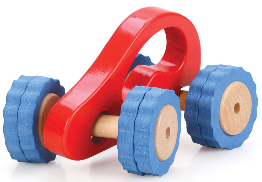 Lucy&Leo Машинка Роли-Поли цвет красный синийLL106Гонки с препятствиями - что может быть интереснее для активного малыша! С игрушечными машинками из серии Roly-Polly ваш ребенок сможет исследовать окружающий мир в увлекательной игре. Машинка имеет отличное сцепление с любой поверхностью, удобную ручку для малыша и специальную конструкцию для любых поворотов.