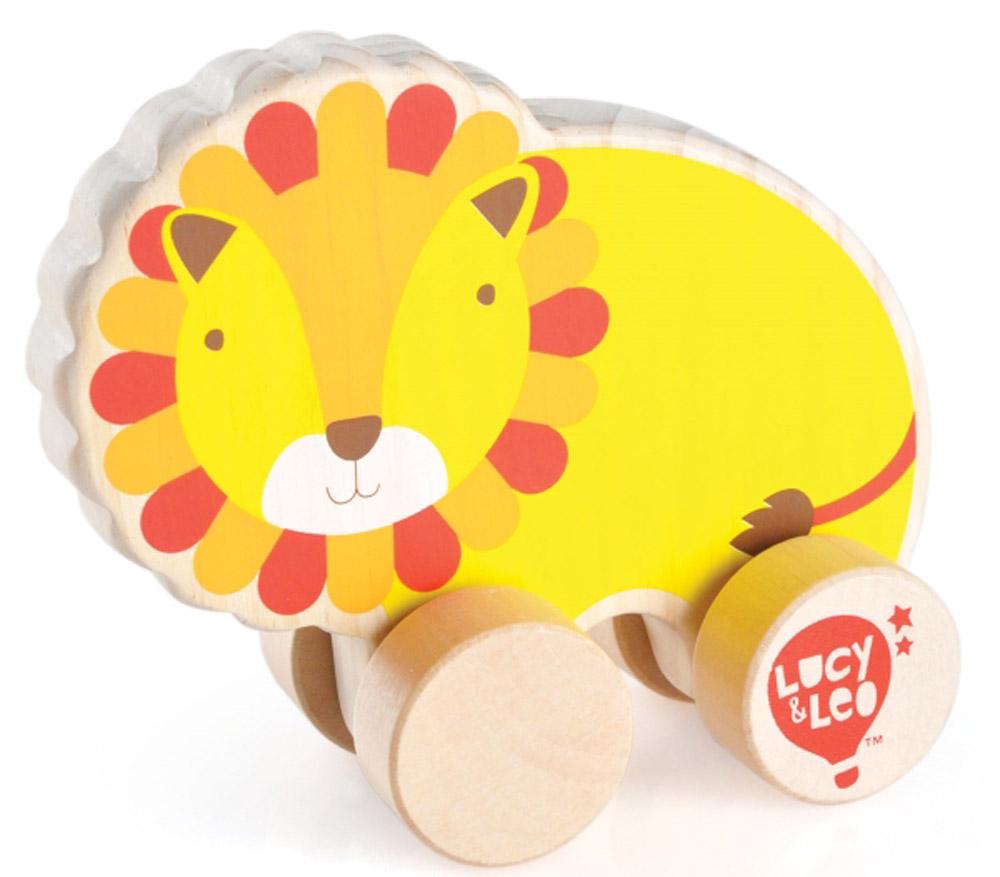 Lucy&Leo Игрушка-каталка ЛевLL119Яркая игрушка Лев изготовлена из экологически чистой древесины. Каталки – просто незаменимые игрушки для малышей. Развивает координацию движений, побуждает малыша к действию.Особенности: яркое оформление игрушки тренирует цветовое восприятие и привлекает внимание малыша; вращающиеся колесики легко скользят по гладкой поверхности.