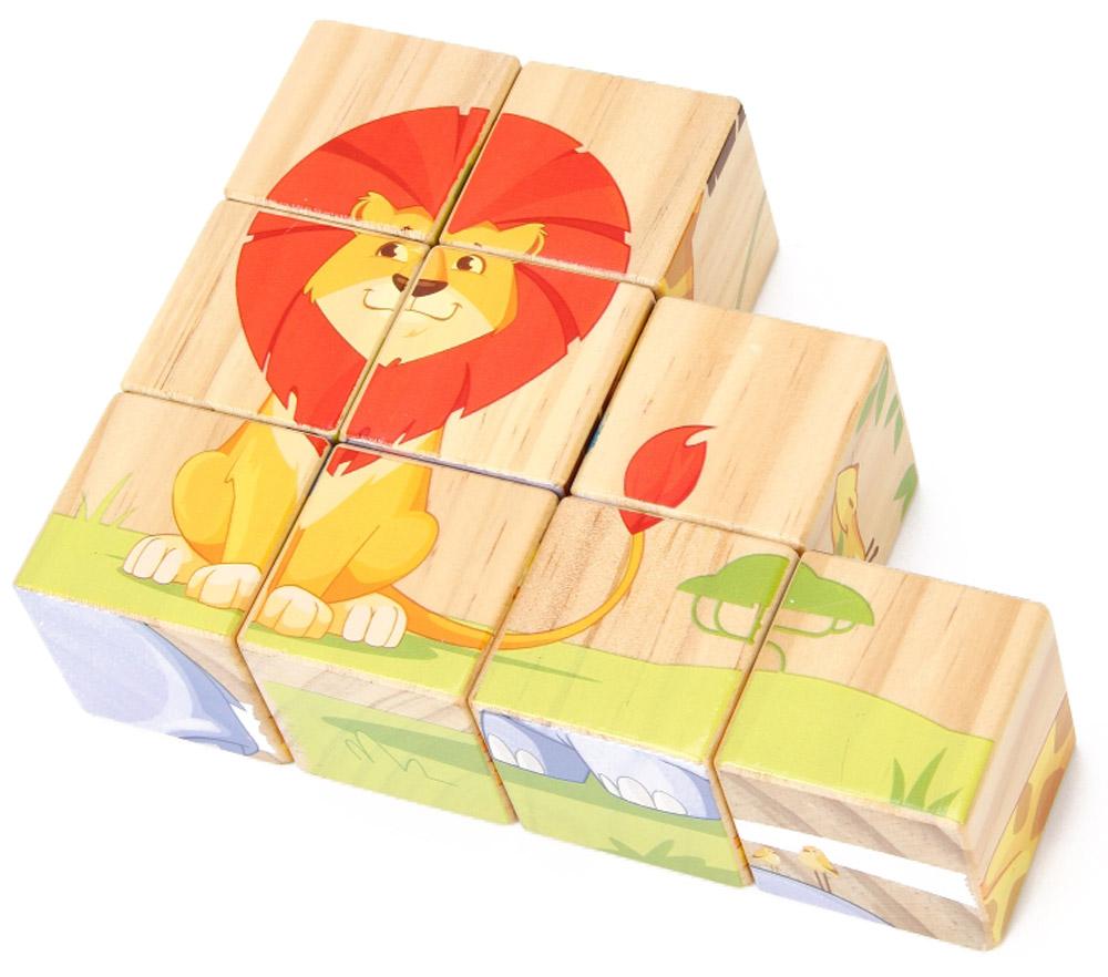 Lucy&Leo КубикиLL123Деревянный пазл из кубиков «Животные саванны» состоит из 9 ярких кубиков, из которых можно собрать 6 разных животных. - Развивает логическое мышление, моторные навыки, решение проблем, учит узнавать новые цвета и животных. - Дарит ребенку приятное чувство достижения, когда пазл собран. - В комплект ходит удобный льняной мешочек для хранения пазла.