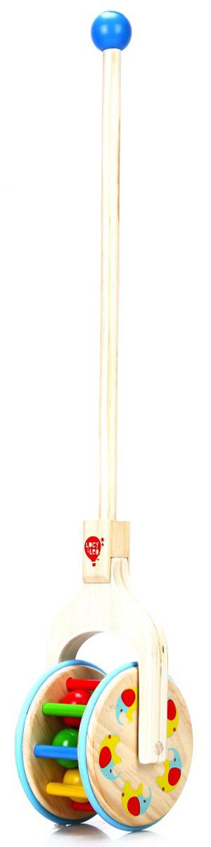 Lucy&Leo Игрушка-каталка с шарикамиLL125Эта необычная каталка-трещотка состоит из ручки и барабана. Рукоять удобно ложится в маленькую руку и каталку очень легко возить. Яркий дизайн, высокое качество сборки и экологически чистые материалы подарят вашему ребенку множество веселья и часы увлекательных игр.