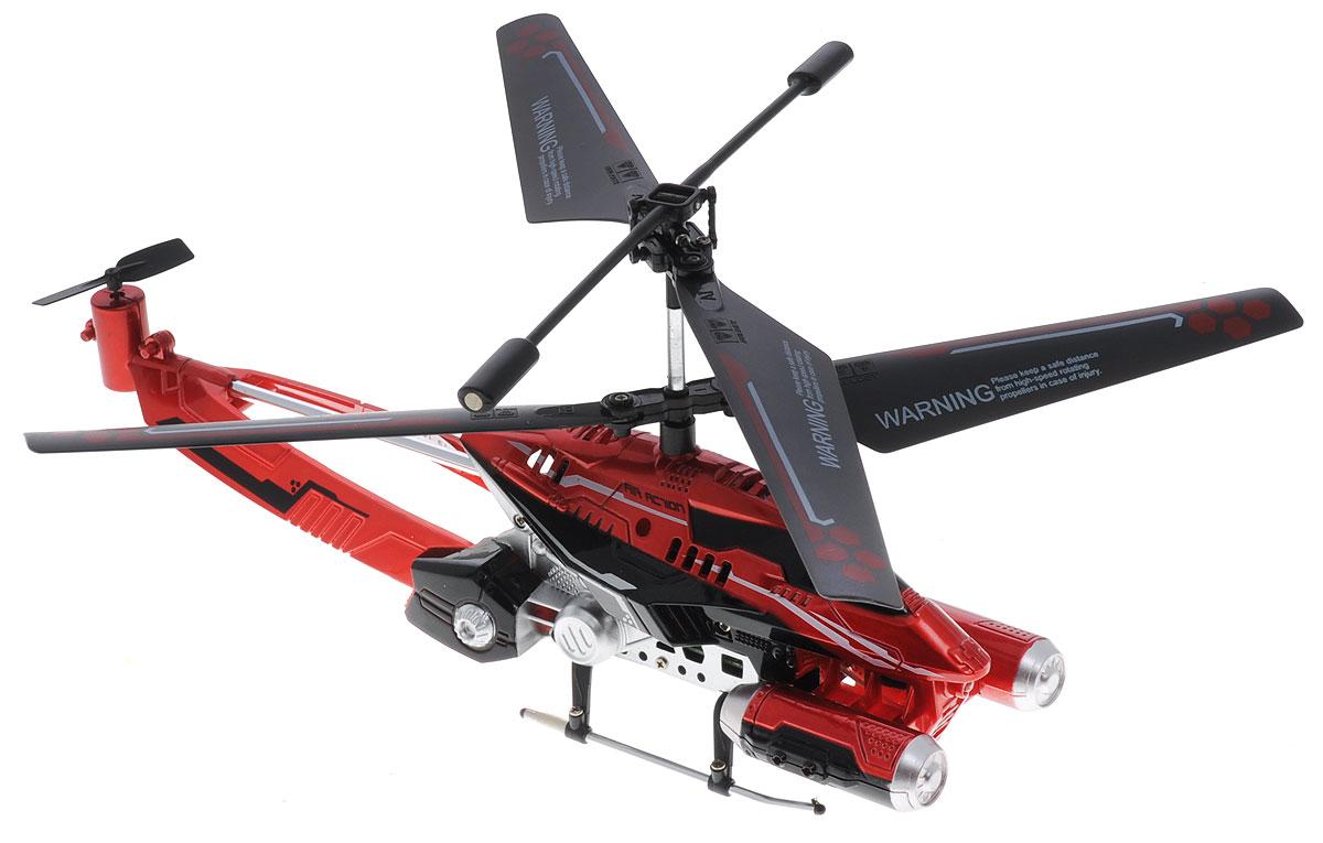Auldey Вертолет на инфракрасном управлении Phantom цвет красный1111253Вертолет на инфракрасном управлении Auldey Phantom со встроенным гироскопом и трехканальным управлением отлично подходит для полетов в закрытых помещениях и на улице в безветренную погоду. Гироскоп предназначен для курсовой стабилизации полета. Игрушка выполнена из прочного пластика с металлическими элементами и имеет два основных винта и один хвостовой. Вертолет стабилен в воздухе и легко управляется. Пульт управления позволяет вертолету летать вверх-вниз, поворачивать налево-направо, назад и вращаться. Также вертолет оснащен системой автопилот и LED-подсветкой. Высота полета - 8 метров. Радиус управления - не менее 12 метров. Время полета - не менее 6 минут. Эта увлекательная игрушка понравится не только детям, но и взрослым, и подарит вам множество счастливых мгновений. Вертолет работает от встроенного аккумулятора, который можно заряжать от USB-кабеля (входит в комплект). Для работы пульта управления необходимо купить 6 батареек типа АА (в комплект не входят).