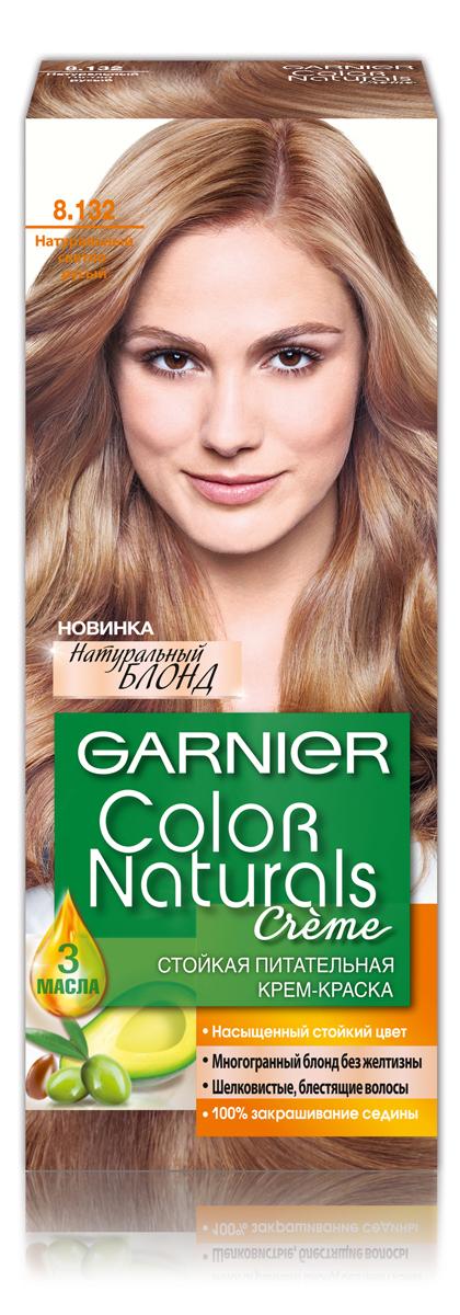 Garnier Стойкая питательная крем-краска для волос Color Naturals оттенок 8.132 Натурсветло-русый, 110 мл