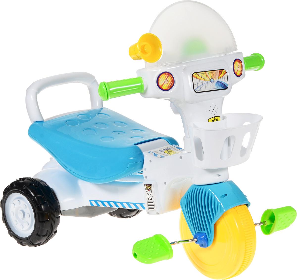 J.R. TOYS Велосипед детский Трицикл цвет голубой белыйJR-907BВелосипед-каталка J.R. TOYS Трицикл - обязательно привлечет внимание вашего малыша. Выполненная из безопасного пластика ярких цветов, устойчивая и прочная каталка будет отличным средством передвижения вашего ребенка. Ручки удобны для захвата маленькими детскими ладошками. Велосипед очень устойчив за счет переднего колеса и широкой задней колесной базы. Главный плюс такой каталки в том, что она приводится в движение педалями. Частые поездки на таком средстве передвижения приучают ребенка к физической активности, что благотворно влияет на его общее развитие. Велосипед улучшает координацию движений ребенка, баланс и моторику. На этой замечательной каталке ваш ребенок будет чувствовать себя комфортно и безопасно, а прогулки станут веселее и интереснее. Каталка детская J.R. TOYS Трицикл обладает световыми и звуковыми эффектами. Необходимо купить 3 батарейки типа АА (не входят в комплект). Уважаемые клиенты! Обращаем ваше внимание на то,...