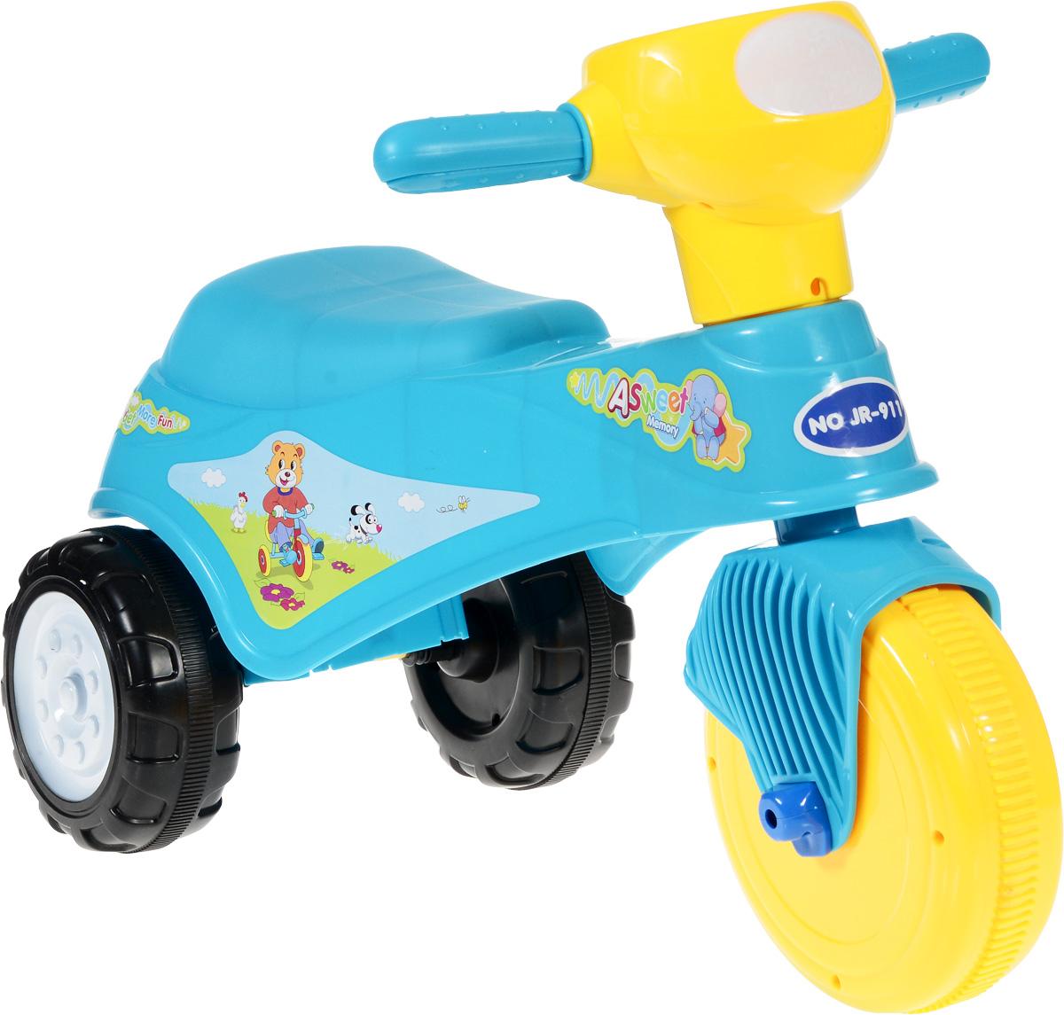 J.R. TOYS Каталка детская Трицикл голубойJR-911ABКаталка детская J.R. TOYS Трицикл - настоящая находка для вашего ребенка. Выполненная из безопасного пластика яркого цвета, устойчивая и прочная каталка будет отличным средством передвижения вашего ребенка. Для того чтобы покататься, малышу достаточно просто сесть на сиденье и, отталкиваясь ногами, катиться вперед. Каталка детская J.R. TOYS Трицикл улучшает координацию движений ребенка, баланс и моторику. На этой замечательной каталке ребенок будет чувствовать себя комфортно и безопасно, а прогулки станут веселее и интереснее. Изделие поставляется в разобранном виде.