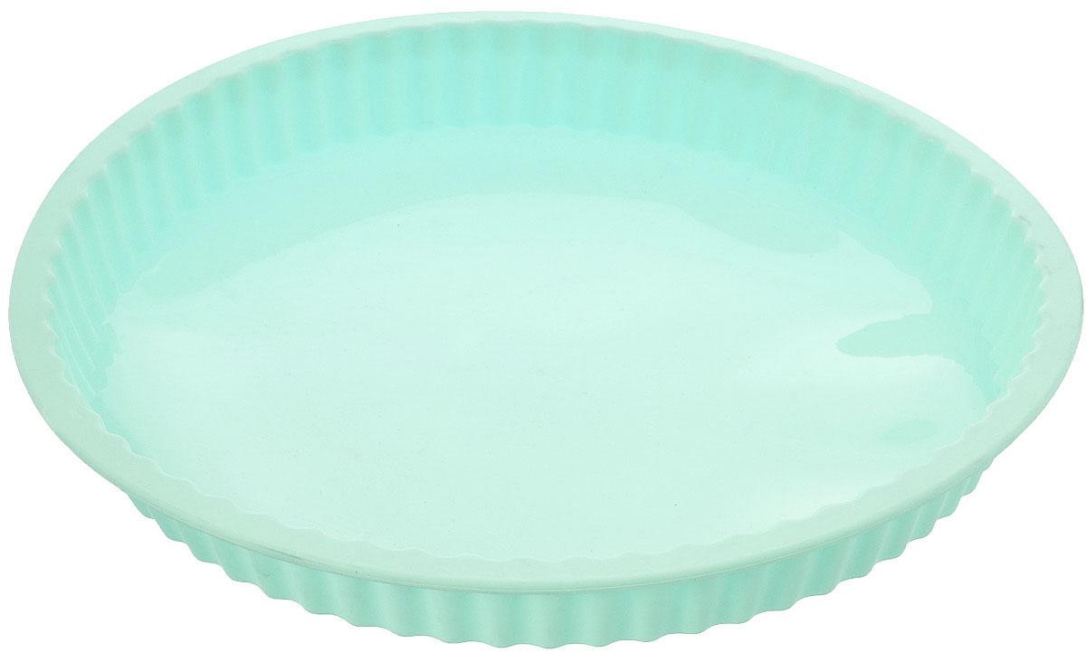 Форма для выпечки кекса Mayer & Boch, силиконовая, цвет: мятный , диаметр 27,5 см21968_мятныйКруглая форма Mayer & Boch будет отличным выбором для всех любителей выпечки. Благодаря тому, что форма изготовлена из силикона, готовую выпечку вынимать легко и просто. Стенки формы рифленые. Форма прекрасно подходит для выпечки кексов. С такой формой вы всегда сможете порадовать своих близких оригинальной выпечкой. Материал изделия устойчив к фруктовым кислотам, может быть использован в духовках, микроволновых печах, холодильниках (выдерживает температуру от -40°C до 230°C). Антипригарные свойства материала позволяют готовить без использования масла. Можно мыть в посудомоечной машине. Внешний диаметр: 27,5 см. Высота стенок: 3 см.