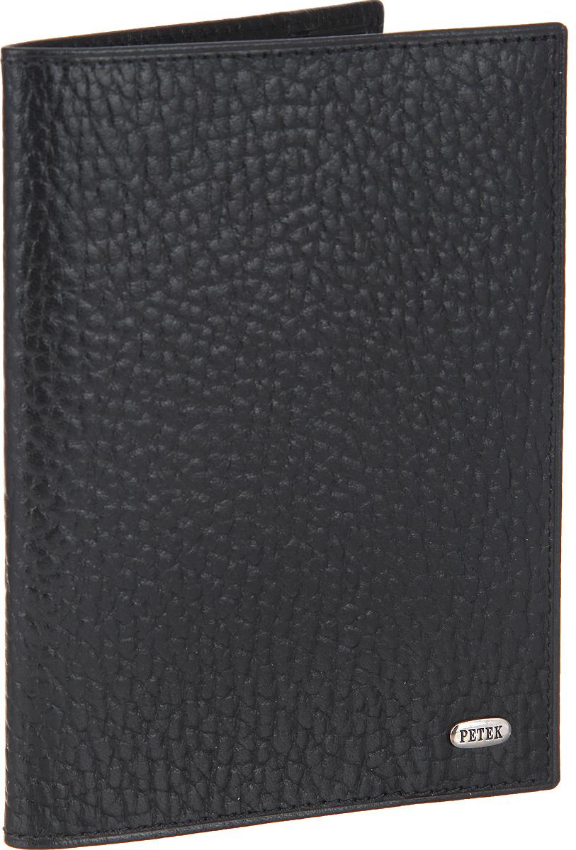 Обложка для паспорта мужская Petek 1855, цвет: черный. 581.46D.01581.46D.01 BlackСтильная обложка для паспорта Petek изготовлена из натуральной кожи с зернистой фактурой. Лицевая сторона изделия оформлена небольшой металлической пластиной с гравировкой в виде названия бренда. Изделие поставляется в фирменной упаковке. Обложка для паспорта поможет сохранить внешний вид ваших документов и защитить их от повреждений, а также станет стильным аксессуаром.