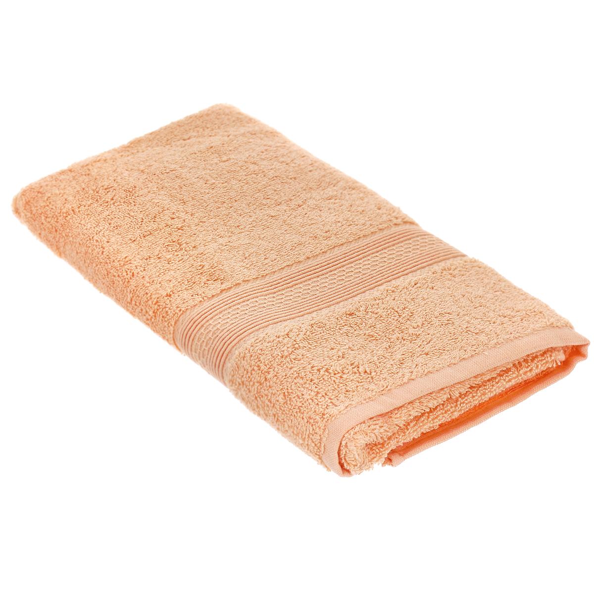 Полотенце махровое TAC Touchsoft, цвет: персиковый, 50 x 90 см0911-84052Махровое полотенце TAC Touchsoft выполнено из натуральной махровой ткани (100% хлопок). Изделие отлично впитывает влагу, быстро сохнет, сохраняет яркость цвета и не теряет форму даже после многократных стирок. Полотенце очень практично и неприхотливо в уходе. Оно создаст прекрасное настроение в ванной комнате. Рекомендации по уходу: - режим стирки при 40°C, - допускается деликатная сухая химчистка, - отбеливание запрещено, - глажка при температуре подошвы утюга до 200С, - рекомендуется щадящий барабанный отжим.