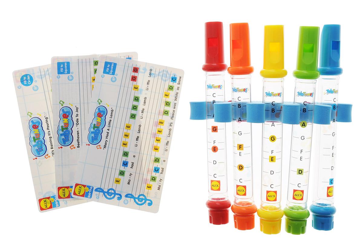 Alex Toys Игрушка для ванной Водяные флейты4005Игрушка для ванной Alex Toys Водяные флейты обязательно приведет в восторг вашего ребенка! Играть удивительную музыку теперь можно прямо во время купания. Для этого достаточно просто налить воду в волшебные инструменты. В зависимости от того, до какой метки нальете воду, получаются разные ноты. Благодаря листам с цветными непромокаемыми нотами, ребенку будет легко научиться играть различные мелодии. При игре на флейтах происходит развитие музыкального слуха карапуза, логического мышления и памяти. Порадуйте своего ребенка такой замечательной игрушкой!