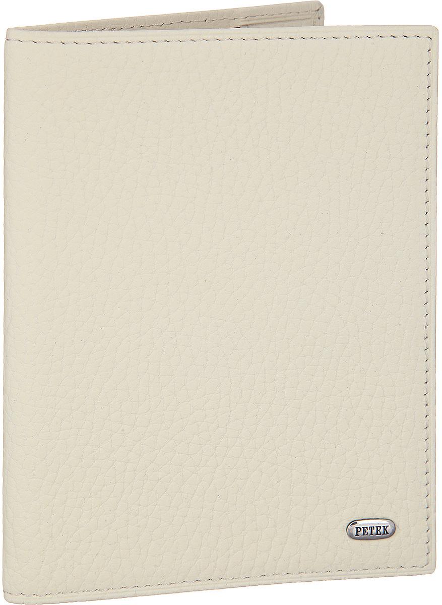 Обложка для паспорта Petek 1855, цвет: кремовый. 581.46D.84581.46D.84 Cloud CremСтильная обложка для паспорта Petek изготовлена из натуральной кожи с зернистой фактурой. Лицевая сторона изделия оформлена небольшой металлической пластиной с гравировкой в виде названия бренда. Изделие поставляется в фирменной упаковке. Обложка для паспорта поможет сохранить внешний вид ваших документов и защитить их от повреждений, а также станет стильным аксессуаром.