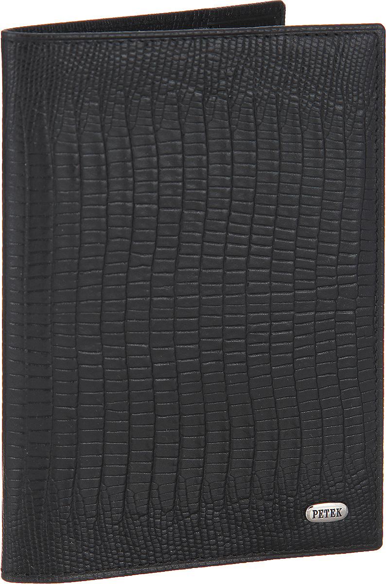 Обложка для паспорта Petek 1855, цвет: черный. 581.041.01581.041.01 BlackСтильная обложка для паспорта Petek изготовлена из натуральной кожи с декоративным тиснением под кожу рептилии. Лицевая сторона изделия оформлена небольшой металлической пластиной с гравировкой в виде названия бренда. Изделие поставляется в фирменной упаковке. Обложка для паспорта поможет сохранить внешний вид ваших документов и защитить их от повреждений, а также станет стильным аксессуаром.
