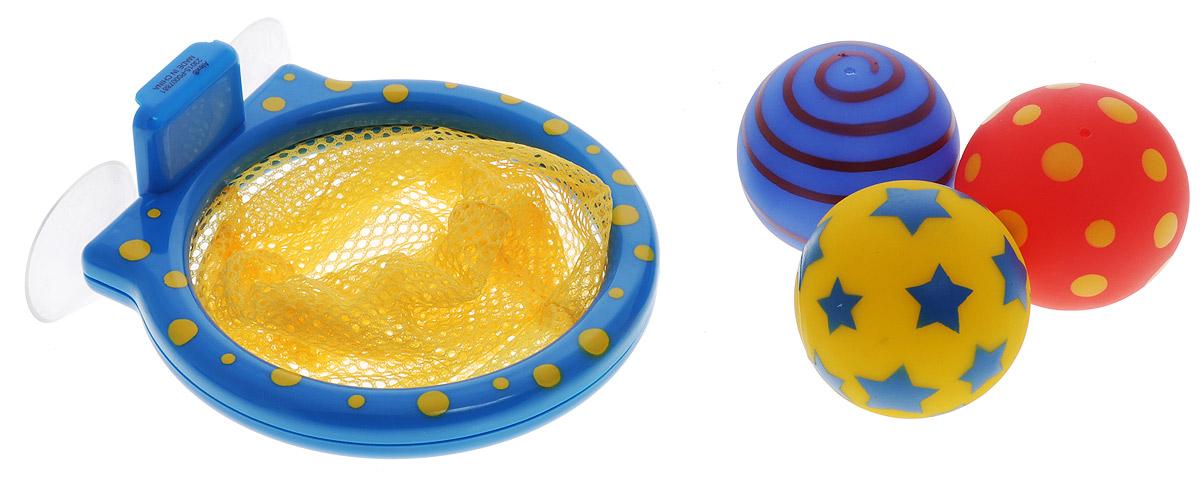 Alex Toys Игрушка для ванной Мячики в сетке694Игрушка для ванной Alex Toys Мячики в сетке - замечательное развлечение для вашего ребенка во время купания. В наборе: баскетбольная сетка на присосках, 3 разноцветных мячика с веселым рисунком. Сетка легко прикрепляется к стенке с помощью присосок. Игрушки для ванной способствует развитию воображения, цветового восприятия, тактильных ощущений и мелкой моторики рук. Порадуйте своего ребенка таким замечательным подарком!