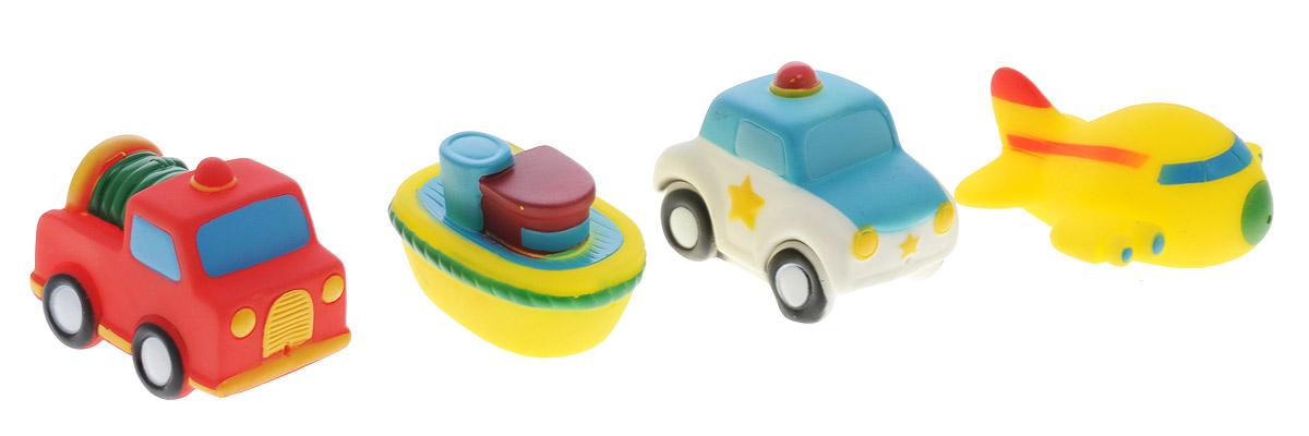 Alex Toys Набор игрушек для ванной Транспорт 4 шт700TNЯркий набор игрушек для ванной Alex Toys Транспорт привлечет внимание вашего ребенка и сделает купание во много раз интереснее. Набор состоит из четырех забавных игрушек - самолетика, парохода, пожарной машинки и полицейской машинки. Если сначала набрать воду в игрушки, а потом нажать на них, то из них брызнет тонкая струя воды, что развеселит вашего малыша. Набор доставит ребенку большое удовольствие и поможет преодолеть страх перед купанием.