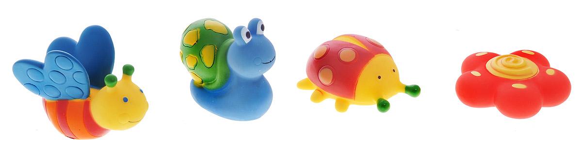 Alex Toys Набор игрушек для ванной Сад 4 шт700GNНабор игрушек для ванной Alex Toys Сад привлечет внимание вашего малыша и не позволит ему скучать. Набор состоит из четырех ярких и разноцветных игрушек, которые могут плавать и набирать в себя воду. Ваш малыш сможет играть с ними и придумывать для них истории. В наборе божья коровка, цветочек, бабочка и улитка. Игрушки для ванной способствует развитию воображения, цветового восприятия, тактильных ощущений и мелкой моторики рук. Порадуйте своего ребенка таким замечательным подарком!