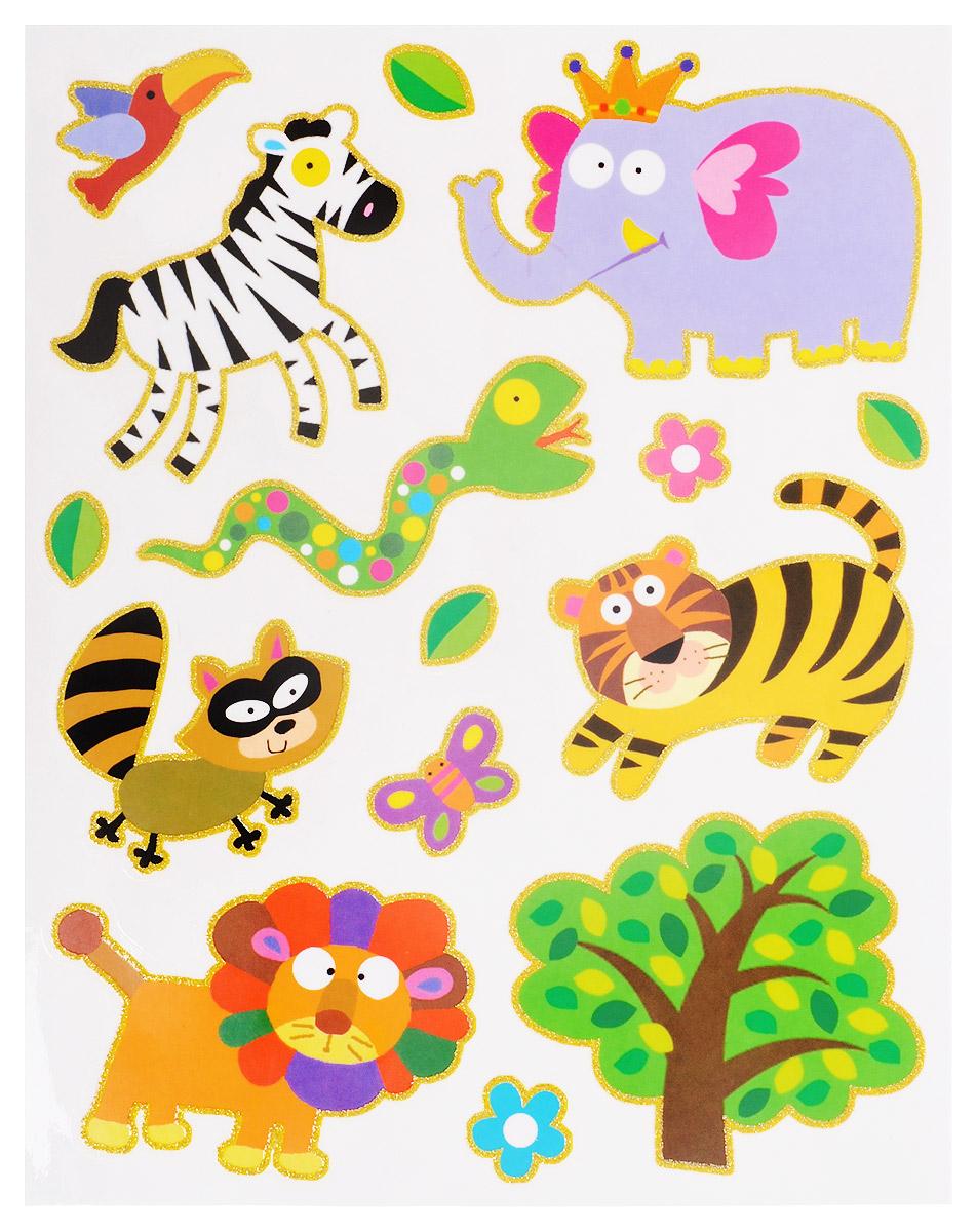 Проф-Пресс Оконное украшение Волшебный мир Слон и тигр в ассортименте ( Н-9686_слон )