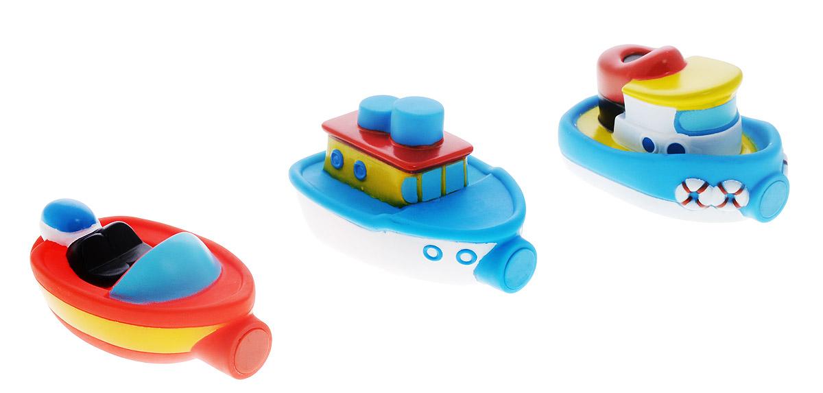Alex Toys Набор игрушек для ванной Лодочки цвет синий красный 3 шт823WС набором игрушек для ванной Alex Toys Лодочки принимать водные процедуры станет еще веселее и приятнее. Набор состоит из трех разноцветных лодок. Их размер удобен для маленьких детских ручек. Внутри игрушек - магнит, поэтому они могут прицепляться друг к другу и плавать вместе, как на буксире. Набор доставит ребенку большое удовольствие и поможет преодолеть страх перед купанием. Игрушки для ванной способствуют развитию воображения, цветового восприятия, тактильных ощущений и мелкой моторики рук.