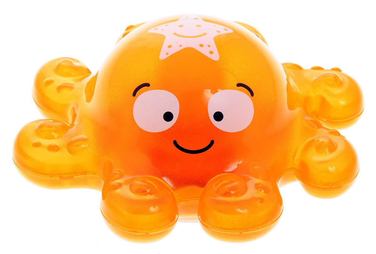Alex Toys Игрушка для ванной Осьминог842SИгрушка для ванной Alex Toys Осьминог привлечет внимание вашего малыша и превратит купание в веселую игру! Игрушка выполнена в виде забавного осьминога оранжевого цвета. Игрушка отлично держится на воде и может плавать в ванной, не боясь шампуней и погружений под воду. Игрушка обладает световыми эффектами. Игрушка для ванной способствует развитию воображения, цветового восприятия, тактильных ощущений и мелкой моторики рук. Рекомендуется докупить 3 батарейки типа LR44 (товар комплектуется демонстрационными).