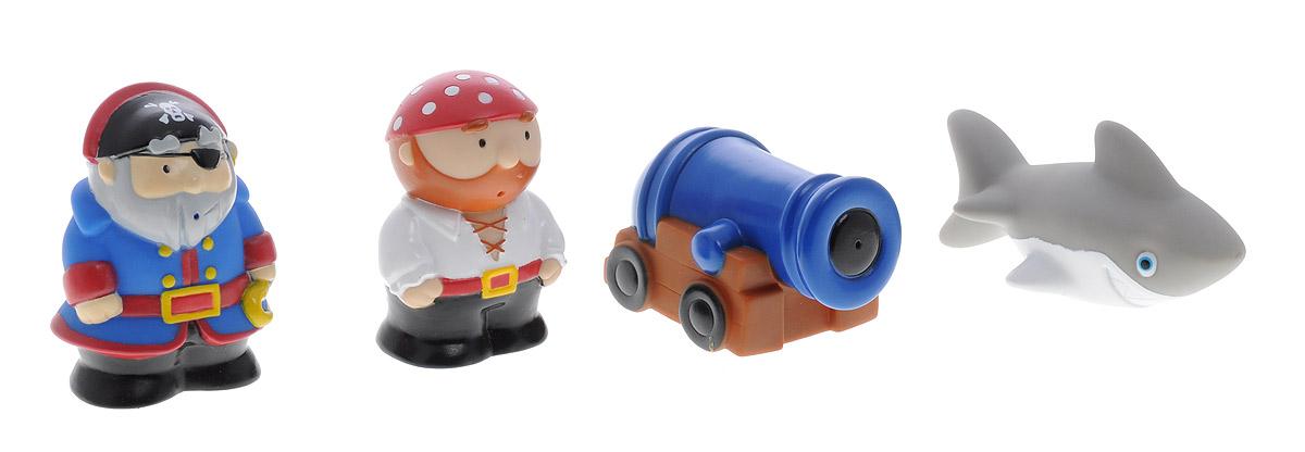 Alex Toys Набор игрушек для ванной Пираты 4 шт699NНабор игрушек для ванной Alex Toys Пираты привлечет внимание вашего ребенка и сделает купание во много раз интереснее. В набор входят 4 игрушки брызгалки-пищалки - 2 пирата, пушка и акула. Также сеточка для хранения игрушек на присосках. Набор доставит ребенку большое удовольствие и поможет преодолеть страх перед купанием. Игрушки для ванной способствуют развитию воображения, цветового восприятия, тактильных ощущений и мелкой моторики рук.