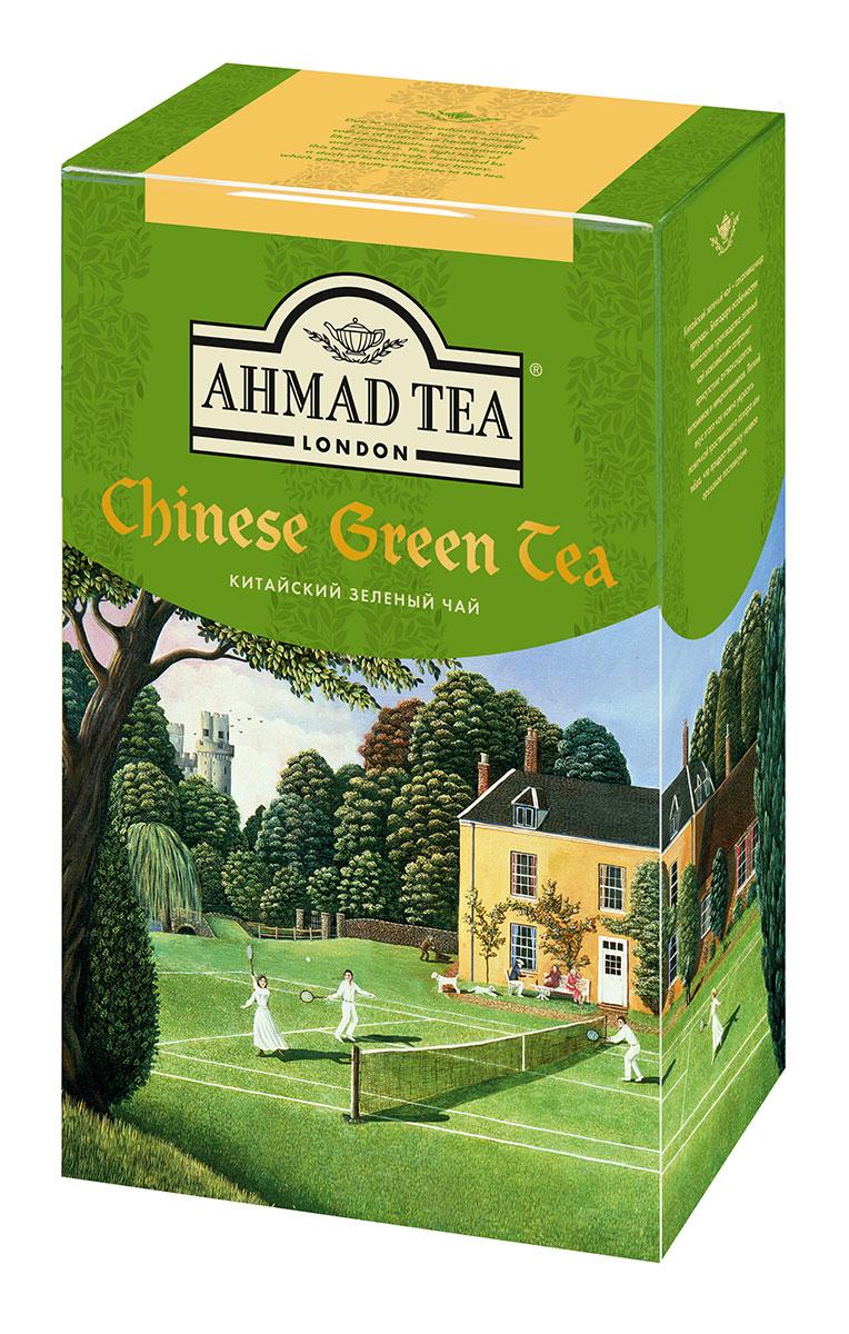 Ahmad Tea Китайский зеленый чай, 100 г1570Китайский зеленый чай Ahmad Tea - сокровищница природы. Благодаря особенностям технологии производства зеленый чай максимально сохраняет присутствие антиоксидантов, витаминов и микроэлементов. Легкий вкус этого чая можно украсить ложечкой тростникового сахара, меда, что придаст напитку нежное ореховое послевкусие.