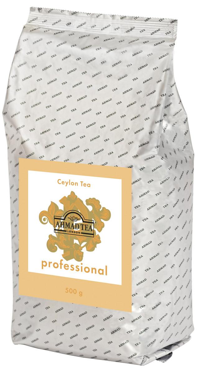 Ahmad Tea Professional Цейлонский черный листовой чай, 500 г1593Цейлонский чай Ahmad Tea Professional отличает выразительный крепкий вкус с характерной для этого региона горчинкой. Качественный цейлонский чай ценится во многих странах мира, на чайных аукционах спрос на него по-прежнему выше, чем предложение. Настой напитка имеет темно-коричневый цвет. Вкус насыщенный, с терпкой нотой и ореховым послевкусием.