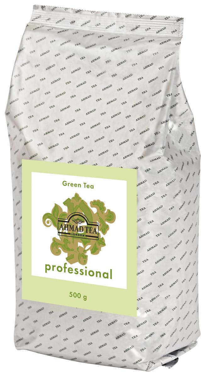 Ahmad Tea Professional зеленый листовой чай, 500 г1594Ahmad Tea Professional - купаж зеленого чая, произведенный по технологии Чан Ми: чайный лист скручивают вручную и затем сушат, при этом листик приобретает тонкую изогнутую форму. Цвет настоя золотисто-зеленый. Вкус свежий, сладкий, дынный, с горчинкой в послевкусии. Титестер Ahmad Tea Вильям Мэннинг рекомендует: ложечка тростникового сахара добавит вкусу напитка оттенки карамели.