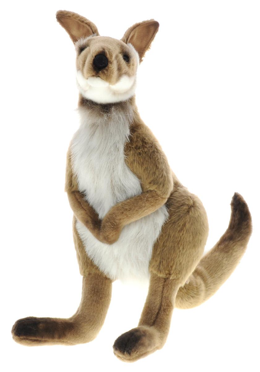 Hansa Toys Мягкая игрушка Кенгуру Валлаби 48 см3647Сумчатое млекопитающее из семейства Кенгуровых. Встречается в районах умеренного климата Восточной Австралии, в том числе на острове Тасмания. Многие виды валлаби по размеру не превосходят зайцев, и так их напоминают внешне, что называются валлаби-заяц. Детенышей валлаби, как и других сумчатых, обычно называют джоуи. После рождения джоуи обычно заползает в сумку к маме и остается там еще на 190 дней, пока не подрастет. Мягкая игрушка Hansa Toys Кенгуру Валлаби обязательно понравится вам и вашему малышу и познакомит вас с этим удивительным животным.