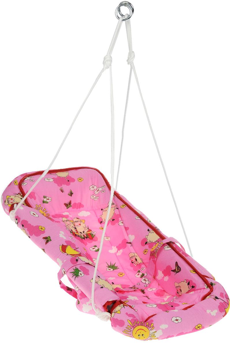 Фея Качели-гамак Комфорт Овечки цвет розовый4258_розовый,овечкиКачели-гамак Фея Комфорт. Овечки - это небольшое уютное местечко для малыша, аналог подвесной люльки. Качели выполнены из 100% хлопчатобумажной ткани. Изделие имеет мягкое сиденье и оснащено ремнями безопасности. Бортики гамака защищены мягким наполнителем. Качели-гамак подвешиваются с помощью небольших тросов на металлические кольца. Не допускайте перегрузки качелей свыше 20 кг. Перед эксплуатацией проверьте надежность креплений, целостность швов и ремней. Всегда проверяйте пристегнут ли ребенок ремнями безопасности. После эксплуатации рекомендуется убрать качели в недоступное для детей место.