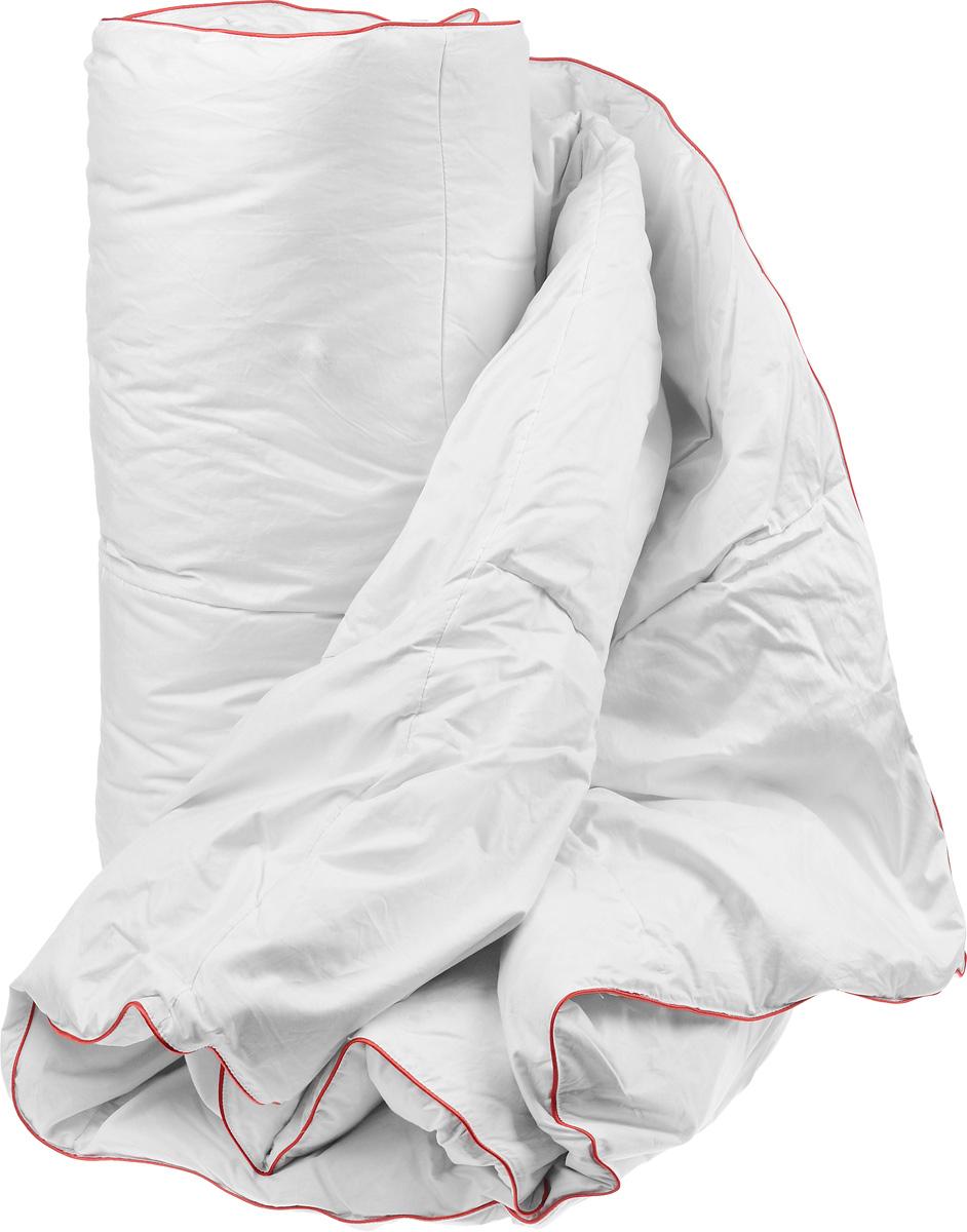 Одеяло легкое Легкие сны Desire, наполнитель: гусиный пух категории Экстра, 172 x 205 см172(16)05-ЛДОЛегкое одеяло Легкие сны Desire поможет расслабиться, снимет усталость и подарит вам спокойный и здоровый сон. Одеяло наполнено серым гусиным пухом категории Экстра. Кассетное распределение пуха способствует сохранению формы и воздушности изделия. Легкое пуховое одеяло - универсальный вариант на осень, весну и лето. Облегченное исполнение гарантирует воздушность и терморегуляцию. Одеяло позволяет коже дышать, обеспечивая здоровый сон и полное восстановление сил на утро. Чехол одеяла выполнен из батиста. Это натуральная хлопчатобумажная ткань, отличающаяся высокой плотностью, идеально подходит для пухо-перовых изделий, так как устойчива к проколам и разрывам, а также отличается долговечностью в использовании. Одеяло можно стирать в стиральной машине при температуре 30°C.