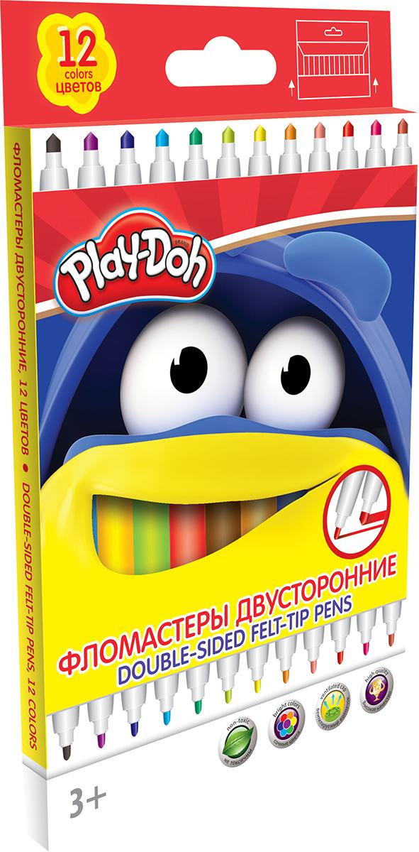 Play-Doh Набор двусторонних фломастеров 12 цветов