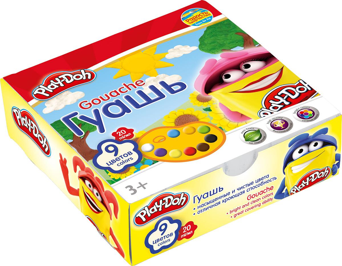 Play-Doh Краски гуашевые 9 цветовPDCP-US1-GU20-9Краски гуашевые 9 цв. Объем краски одного цвета 20 мл. Упаковка ? картонная коробка. Размер 12 х 12 х 3,8 см..
