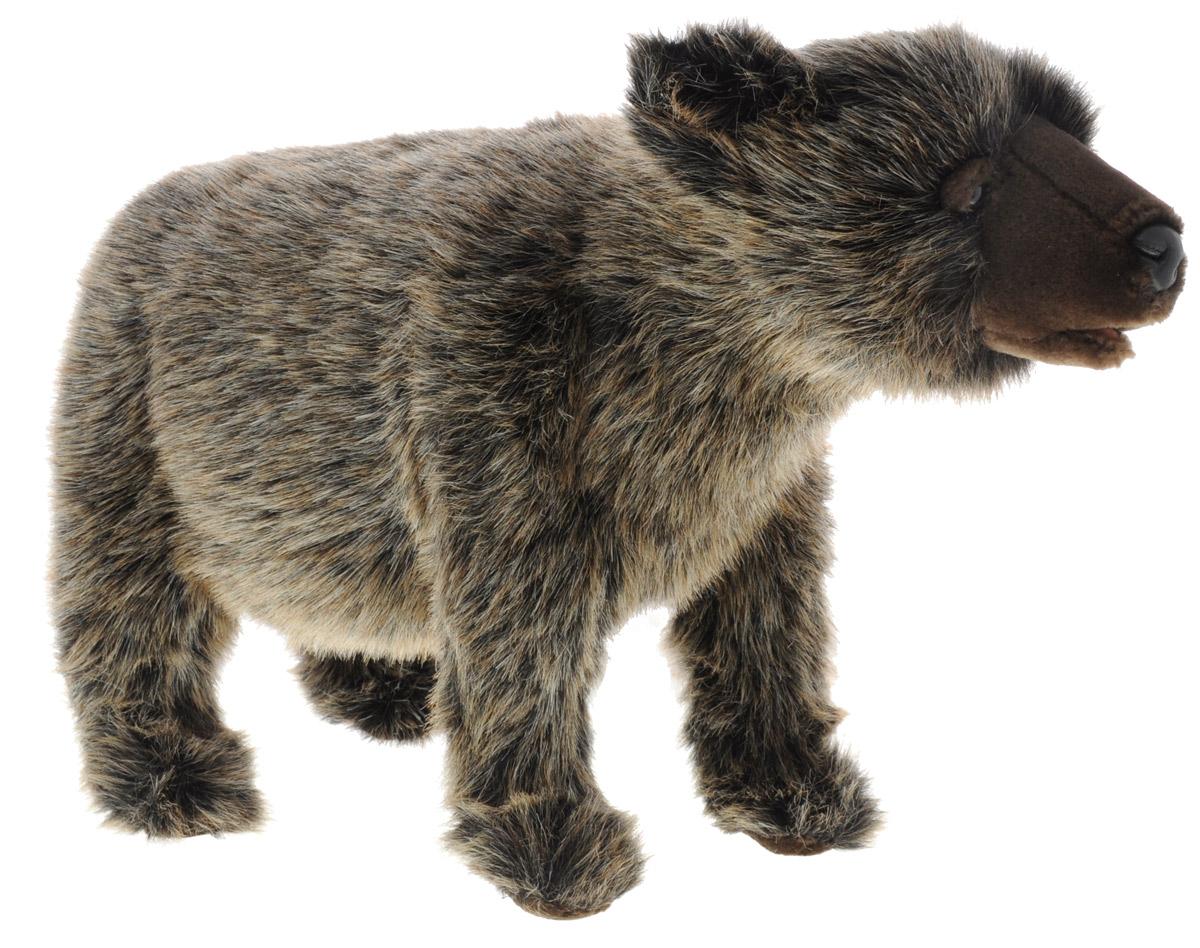 Hansa Toys Мягкая игрушка Медвежонок гризли 60 см6392Гризли - подвид бурого медведя, обитающий на Аляске и в западных районах Канады. По внешнему виду гризли близок к сибирским подвидам бурого медведя. Отличительной особенностью являются длинные (около 15 сантиметров) когти. Только в ранней молодости гризли может залезать на деревья, пока не мешают когти, зато позже с легкостью переплывает широкие реки. Умело ловит рыбу. Также гризли любят разорять ульи и есть мед. Гризли - самые жестокие и агрессивные медведи. Научное название этого подвида horribilis, переводится как страшный, ужасный. Гризли ест огромное количество рыбы, ягод и сочных растений, иногда потребляет 40 кг пищи в день. Продолжительность жизни около 30 лет. Мягкая игрушка Hansa Toys Медвежонок гризли привлечет внимание не только ребенка, но и взрослого. А ваш малыш в игровой форме сможет познакомится с данным видом животного.