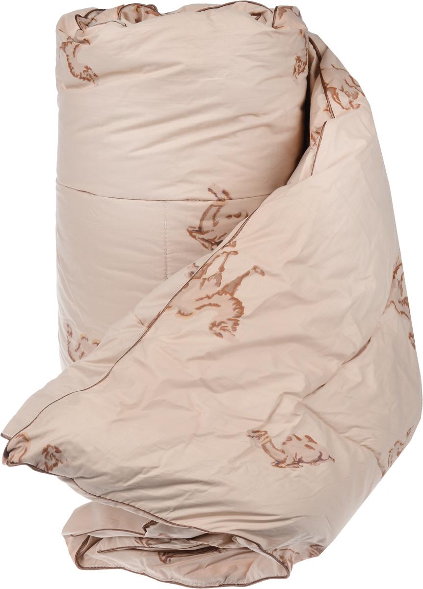 Одеяло теплое Легкие сны Верби, наполнитель: верблюжья шерсть, 200 х 220 см200(30)02-ВШТеплое одеяло размера евро Легкие сны Верби поможет расслабиться, снимет усталость и подарит вам спокойный и здоровый сон. Верблюжья шерсть является прекрасным изолятором и широко используется как наполнитель для постельных принадлежностей. Одеяла из нее отличаются хорошей воздухопроницаемостью и способностью быстро поглощать излишнюю влагу. Они позволяют коже дышать, поддерживают постоянную температуру тела, обеспечивая здоровый и комфортный сон. Кассетное распределение наполнителя способствует сохранению формы и воздушности изделия. Чехол одеяла выполнен из прочного тика с рисунком в виде верблюдов. Это натуральная хлопчатобумажная ткань, отличающаяся высокой плотностью, она устойчива к проколам и разрывам, а также отличается долговечностью в использовании. По краю одеяла выполнена отделка атласным кантом коричневого цвета. Под нежным, мягким и теплым одеялом вам приснятся только сказочные сны. Рекомендуется химчистка. Плотность наполнителя: 300...