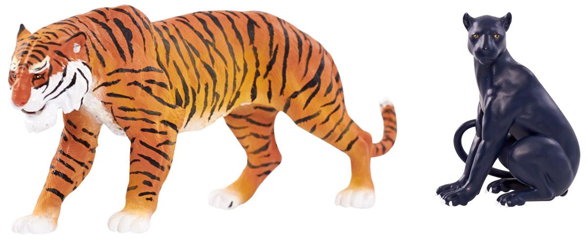 Jungle Book Набор фигурок Шерхан и Багира23255_Шерхан и БагираНабор фигурок Jungle Book Шерхан и Багира выполнен по мотивам одноименного фильма студии Disney. Набор включает в себя две высоко детализированные фигурки персонажей, одна из которых является функциональной. На спине фигурки тигра находится кнопка, при нажатии на которую Шерхан передвигает передними лапами. Фигурка пантеры Багиры не имеет точек артикуляции. Фигурки выполнены из высококачественного пластика. Такие фигурки компактного размера позволят ребенку воссоздать любимые сцены из мультфильма или придумать собственные захватывающие истории, что поможет ему развить воображение.