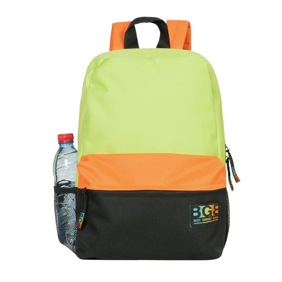 Рюкзак Grizzly, цвет: салатовый, черный, оранжевый. RD-644-2/3