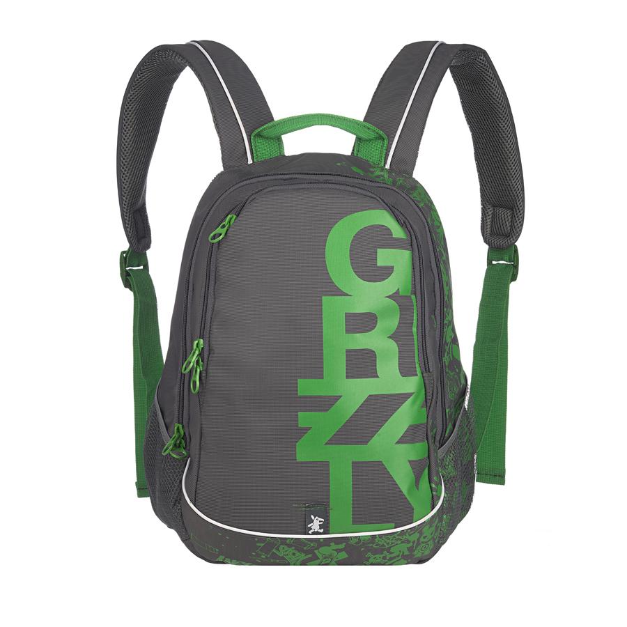 Рюкзак городской Grizzly, цвет: серый, зеленый, 18 л. RU-400-1/1RU-400-1/1Рюкзак молодежный, два отделения, карман на молнии на передней стенке, боковые карманы из сетки, внутренний карман на молнии, внутренний карман-пенал для карандашей, внутренний подвесной карман на молнии, жесткая анатомическая спинка, дополнительная ручка-петля, укрепленные лямки