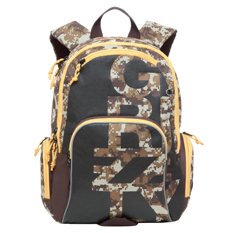 Рюкзак городской Grizzly, цвет: бежево, коричневый, 18 л. RU-604-1/3RU-604-1/3Рюкзак молодежный, два отделения, карман на молнии на передней стенке, объемный карман на молнии на передней стенке, объемные боковые карманы на молнии, внутренний карман-пенал для карандашей, внутренний подвесной карман на молнии, жесткая анатомическая спинка, дополнительная ручка-петля, укрепленные лямки, брелок для ключей