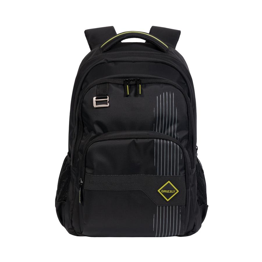 Рюкзак городской Grizzly, цвет: черный, 20 л. RU-618-3/1RU-618-3/1Рюкзак молодежный, два отделения, объемный карман на молнии на передней стенке, боковые карманы из сетки, внутренний подвесной карман на молнии, внутренний составной пенал-органайзер, анатомическая спинка, дополнительная ручка-петля, мягкая укрепленная ручка, нагрудная стяжка-фиксатор, укрепленные лямки