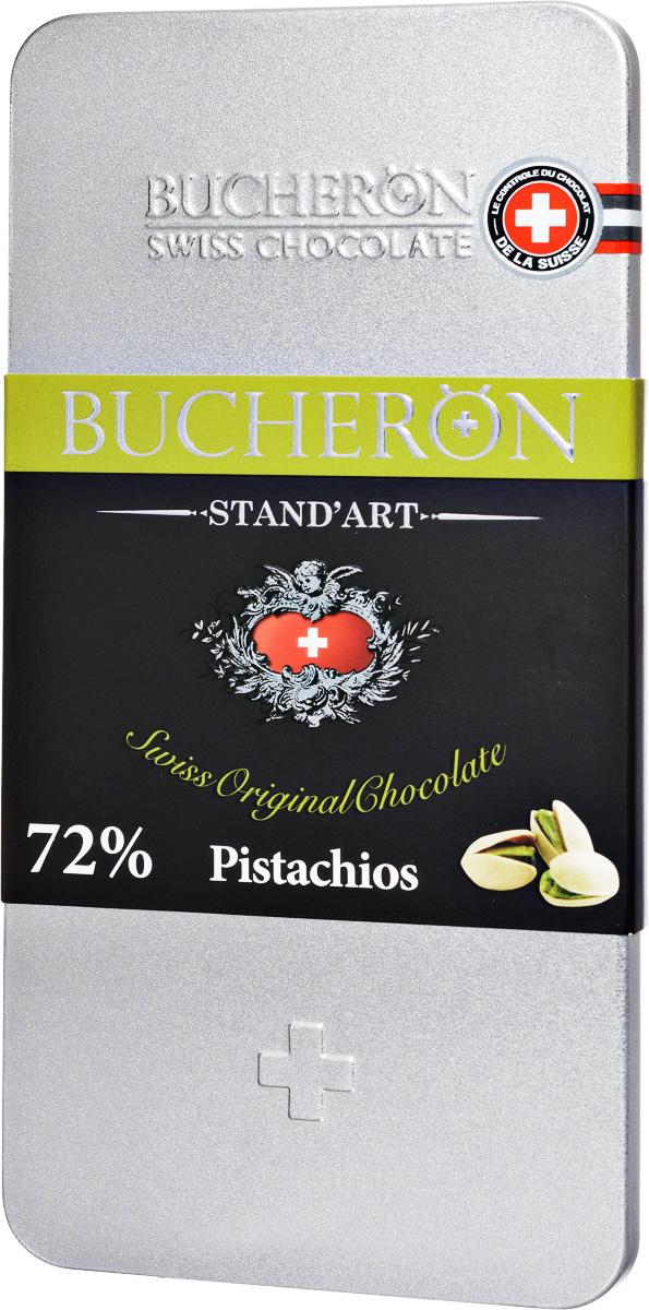 Bucheron Горький швейцарский шоколад с фисташками, 100 г